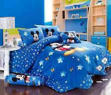 Mickey Mouse Queen Size Bedding Blue Kids And Teens Comforters U0026 Sets Ebay