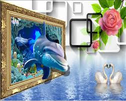 compare prices on shark 3d wallpaper online shopping buy low beibehang 3d wallpaper 3d cubic roses rose swan 3d background cartoon shark background kids room photo