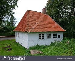 danish traditional small country house denmark image
