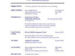 resume fast food restaurant resume stunning restaurant resume