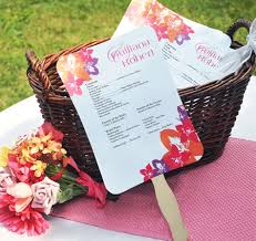diy fan wedding programs kits fan wedding program kit wedding fan programs