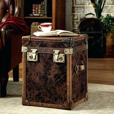 steamer trunk side table coffee table steamer trunk coffee table antique one pottery barn