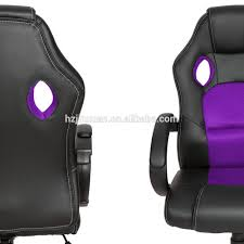 Desk Gaming Chair by Top Gamer Ergonomic Gaming Chair Black Purple Swivel Computer Desk