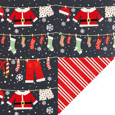 container store christmas wrapping paper santa clothesline black reversible wrapping paper the container
