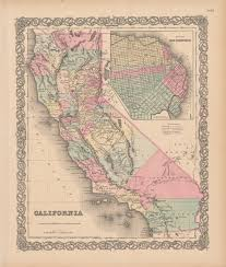 State Map Of California by 1855 State Map California Secretary Of State