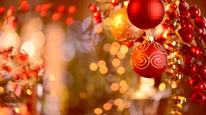 christmas and new year decoration abstract blurred bokeh holiday