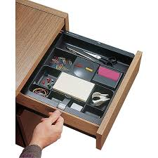 3m Desk Drawer Organizer 3m Black Plastic Adjustable Desk Drawer Organizer Staples