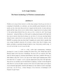 how to write an ieee paper seminar report on li fi technology