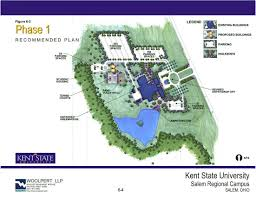 Ohio State University Campus Map by Salem Campus Master Plan Kent State University
