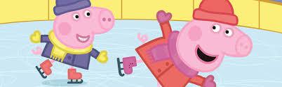 peppa pig ice skating free colouring download whsmith blog