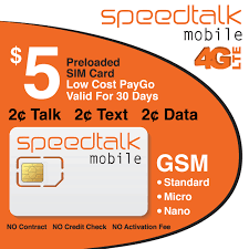 Lycamobile Usa Coverage Map by Speedtalk Mobile T Mobile Compatible Preloaded 5 Standard Micro