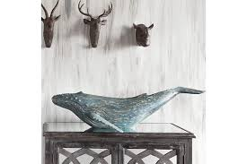 Home Sculpture Decor Home Accents Whale Sculpture Ashley Furniture Homestore