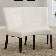 modus bossa dining height leatherette banquette hayneedle