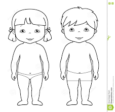 vector coloring page of cute baby boy and stock vector