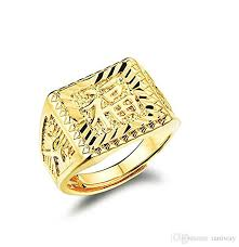 men rings prices images Wholsale price mens 18k gold plated rectangle ring blessing in jpg
