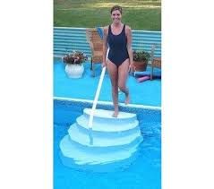 wedding cake pool steps best 25 above ground pool stairs ideas on above