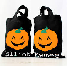 halloween personalised trick or treating bag by precious little