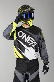 oneal motocross jersey o u0027neal hardwear flow jag le jersey black neon now 8 savings 24mx