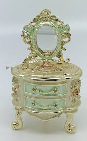 fortune series trinket box makeup desk with mirror storage box