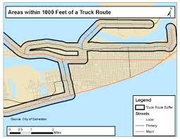 Truck Route Maps by Galveston Sdoh Maps