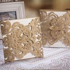 affordable pocket wedding invitations affordable laser cut lace pocket wedding invites ewws002 as low as