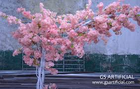 2 meters small artificial cherry blossom tree one side branches
