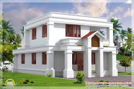 Dream Home Design Kerala House Front Design Cute Flat Roof Indian Home Elevation Sq Ft