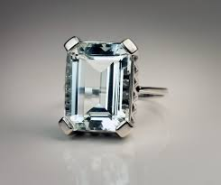 antique aquamarine engagement rings deco aquamarine ring vintage aquamarine jewelry antique