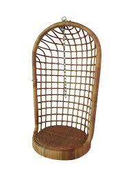 Rattan Swinging Chair Vintage Boho Chic Rattan Hanging Chair Chairish