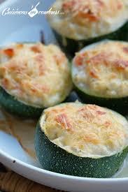 cuisiner courgette ronde courgettes rondes farcies au saumon fumé et au fromage frais
