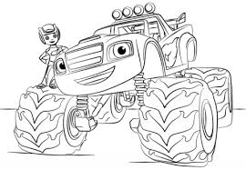 blaze monster truck coloring free printable coloring pages