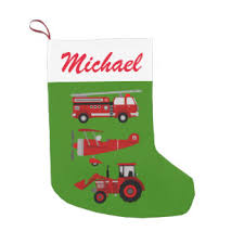 Fire Trucks Decorated For Christmas Fire Truck Christmas Stockings Zazzle