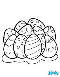 easter eggs coloring pages hellokids com