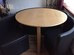 round table with chairs that fit underneath next round table chair fit around and under table in good condition