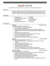 resume for custodian evidence custodian job description skills