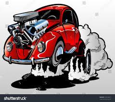 volkswagen bug clip art cartoon dragster stock vector 168109817 shutterstock