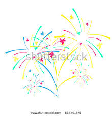 fireworks celebration background stock vector 668491675