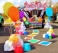trunk or treat decorating ideas candyland land and