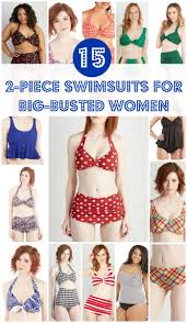 Big Busted Womens Clothing 15 Flattering Two Piece Swimsuits For Big Busted Women