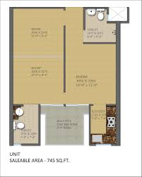 2 bhk 530 sq ft apartment for sale in gaur city 2 14th avenue