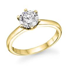 gold diamond rings 1 2 ct diamond solitaire engagement ring in 14k yellow gold