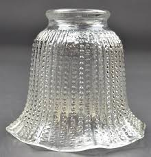 lamp shade clear pressed glass lamp shade beaded pattern