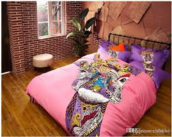 Giraffe Bedding Set German Style Colorful Cat Giraffe Bedding Sets Fashion King