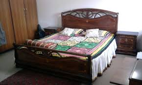 Size Double Bed Fs King Size Double Bed Sheesham Wood With Side Tables For Sale