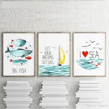 Kids Room Prints by 2017 Wall Art Painting Modern Sea Landscape Canvas Painting Canvas