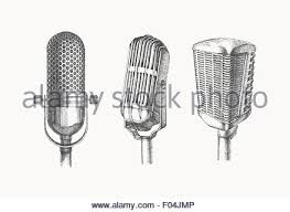 microphones drawing stock photo royalty free image 86154343 alamy