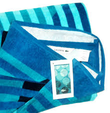 Lacoste Home Decor by Amazon Com Lacoste Beach Towel Fizzy Turquoise Beach Home U0026 Kitchen