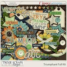 gingerscraps kits triumphant full kit by trixie scraps designs