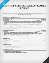 Resume For A Nursing Assistant Resume Examples No Experience Related To Certified Nursing