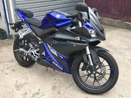 yamaha yzf r125 blue low mileage very good condition in houghton